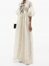 GIAMBATTISTA VALLI Ruffled polka-dot silk-organza gown – ruffle detail gowns