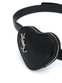 Saint Laurent snakeskin-effect heart-pocket belt ~ money belts ~ bum bags