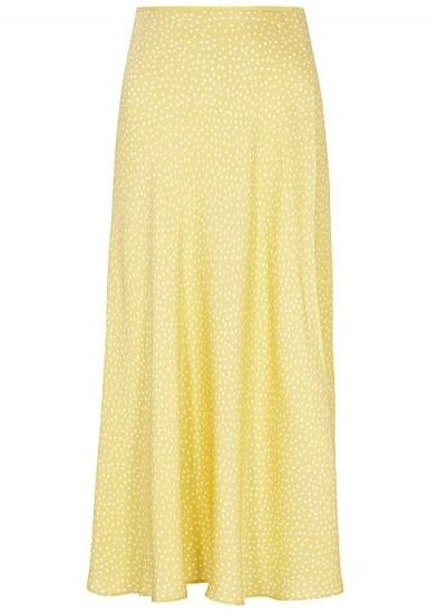 SAMSØE & SAMSØE Alsop yellow polka-dot midi skirt - flipped