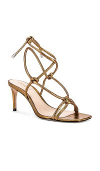 Schutz Belize Stiletto Bronze / strappy metallic heels