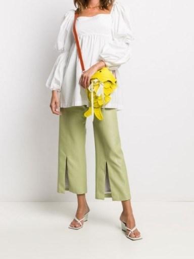 SENSI STUDIO fish shape crossbody bag / bright yellow bags - flipped