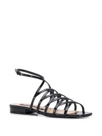SERGIO ROSSI Goldiva Steel flat sandals / strappy summer sandal