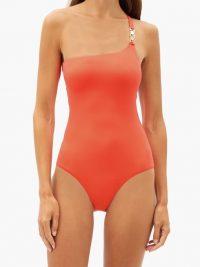 MELISSA ODABASH Seychelles one-shoulder swimsuit / orange swimsuits