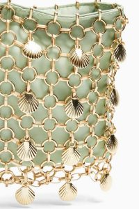 TOPSHOP SHELL Green Cage Mini Bag / shells / small chain strap bags