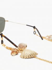 FRAME CHAIN Shellie Conch 18kt gold-plated glasses chain / eyewear accessories