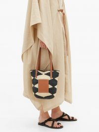 LOEWE PAULA'S IBIZA Shigra sisal and leather tote bag ~ summer bags