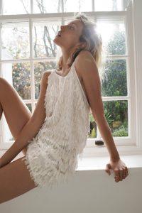 ZARA SHIMMERY FRINGE DRESS