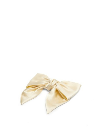 SOPHIE BUHAI Silk-satin bow hair clip