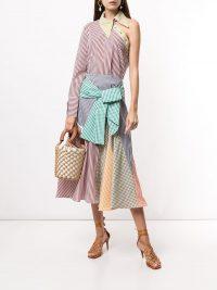 Silvia Tcherassi gingham colour-block skirt / multi-coloured checked skirts