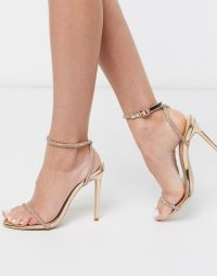 Simmi London Samia embellished heeled sandals in rose gold