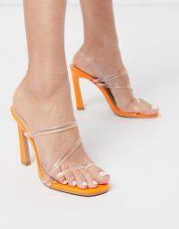 Simmi London True clear mules in orange