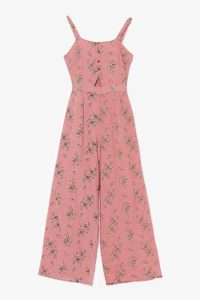 NASTY GAL Sitting in the Mornin' Sun Floral Belted Jumpsuit