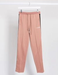 Sixth June relaxed joggers with side taping in salmon