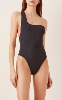 Haight Sofia One-Shouldered One-Piece Swimsuit ~ black asymmetrical swimsuits
