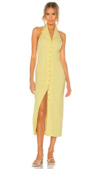 Song of Style Celia Maxi Dress Yellow Gingham / checked summer dresses