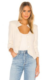 Song of Style Ramona Blazer Beige Check