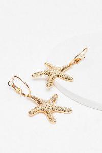 NASTY GAL Starfish Drop Earrings