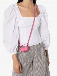 STAUD Lana puff-sleeve top | white summer blouses