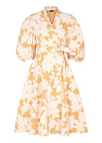 STINE GOYA Belinda cotton-blend jacquard wrap dress / flared dresses
