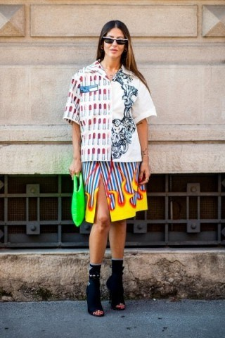 Mixed prints and bold colours - flipped