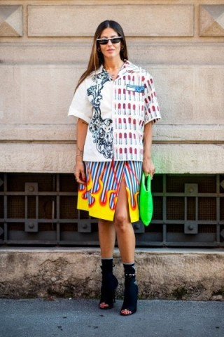 Mixed prints and bold colours