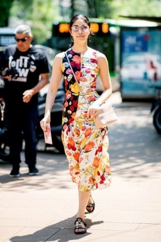 Ruching and mismatched floral prints - flipped