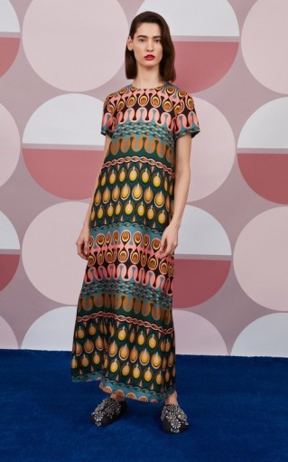 La DoubleJ Swing Printed Silk Maxi Dress ~ vintage prints