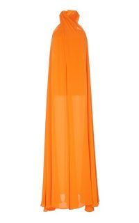 Staud Sycamore Wrap Gauze Wide-Leg ~ floaty orange jumpsuits ~ summer evening glamour