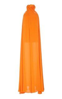 Staud Sycamore Wrap Gauze Wide-Leg ~ floaty orange jumpsuits ~ summer evening glamour