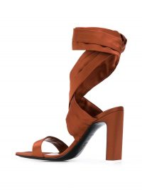 The Attico tie-fastening ankle sandals