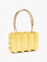 SABRY MAROUF The Djed minaudière shoulder bag / small gold top handle bags
