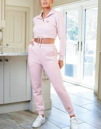 The O Dolls Collection jogger with logo in pink