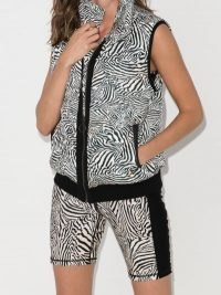 The Upside Zebra-Print Puffer Gilet – black and white gilets