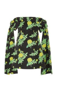 Bernadette Antwerp Timothy Off-The-Shoulder Floral Taffeta Mini Dress