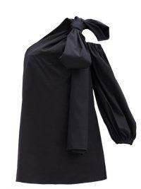 BERNADETTE Tom one-shoulder cotton-blend minidress