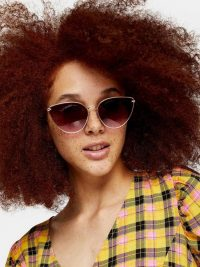 Topshop Phoenix Cat Eye Sunglasses – Gold – very.co.uk