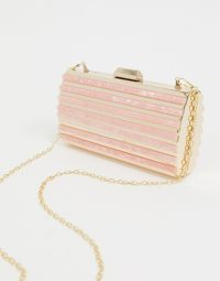 True Decadence gold and resin structured clutch bag with detachable strap | going out chain strap bags