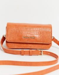 Valentino by Mario Valentino Summer Memento cross body bag in orange croc