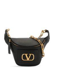 VALENTINO Valentino Garavani VLOGO belt bag | designer black leather bum bags