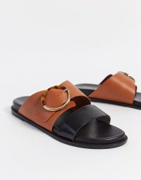Vero Moda colourblock flat sandals