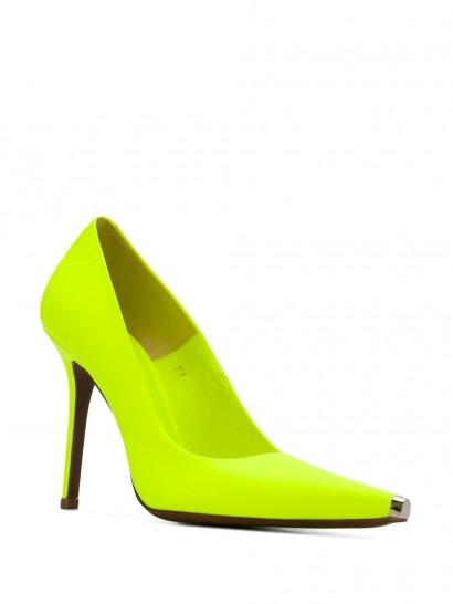 VETEMENTS 110mm Décolleté pumps ~ neon yellow courts