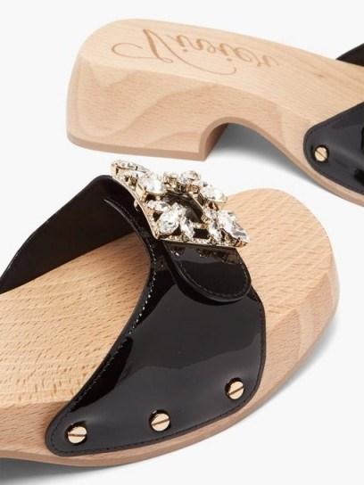 ROGER VIVIER Viv patent-leather clog slides ~ casual summer glamour - flipped