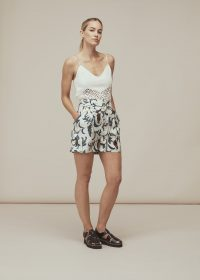 Whistles LIMITED EDITION SUBRINA PRINTED SILK SHORT | botanical print shorts