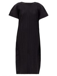 PLEATS PLEASE ISSEY MIYAKE Wide-sleeve technical-pleated pointelle dress