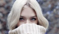 Blonde hair, blue eyes and a snug jumper. Here's looking at you!