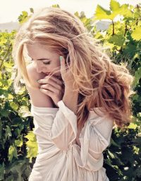 Attractive beautiful blond hair