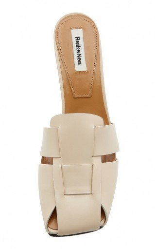 Reike Nen Woven Leather Mules in Neutral