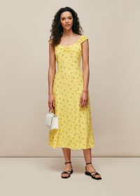 WHISTLES FORGET ME NOT PRINT DRESS / yellow summer dresses