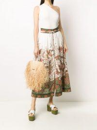 ZIMMERMANN floral-print maxi skirt