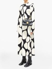 MARNI Abstract polka-dot midi dress ~ bold print dresses